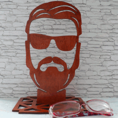 Glasses Holder Stand Free DXF File