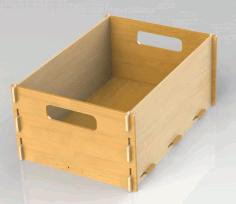 Laser Cut Box 4mm Free DXF File