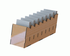 Laser Cut Desk Organizer For Notes Free DXF File