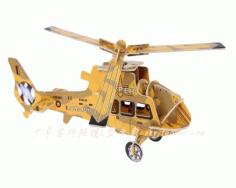 Laser Cut 3d Diy Helicopter Model Free DXF File