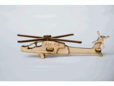 Helicopter Laser Cut Kit Free DXF File