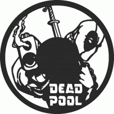 Dead Pool Wall Clock Free DXF File