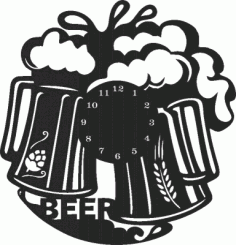 Beer Wall Clock Free CDR Vectors Art
