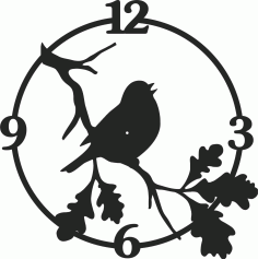 Bird Wall Clock Free CDR Vectors Art