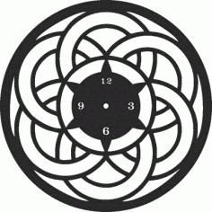 Clock Decor Free CDR Vectors Art