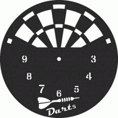 Darts Clock Free CDR Vectors Art