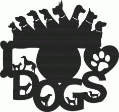 Dogs Lover Clock Free CDR Vectors Art