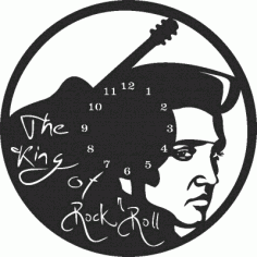 Elvis Wall Clock Free CDR Vectors Art