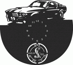 Ford gt500 Wall Clock Free DXF File