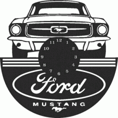 Ford Mustang Wall Clock Free DXF File