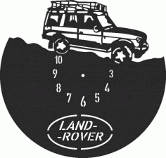 Land Rover Clock Free DXF File
