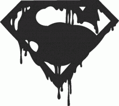 Superman Logo Clock Free DXF File