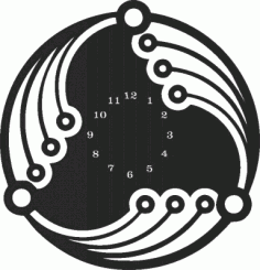 Wall Clock Plasna Laser Cut Free DXF File