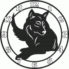 Wolf Wall Clock Free DXF File
