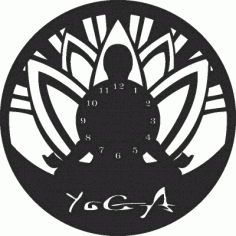 Yoga Clock Free DXF File