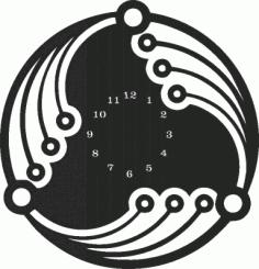 Wall Clock Plasna Laser Cut Free CDR Vectors Art