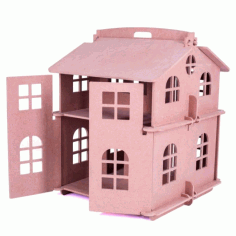 Laser Cut House Model For Kids Free CDR Vectors Art