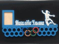 Laser Cut Volleyball Medal Display Hanger Free CDR Vectors Art