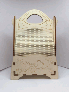 Laser Cut Champagne Gift Box Wooden Champagne Wine Bag Free CDR Vectors Art