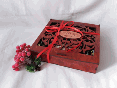Laser Cut New Year Gift Box 6 Patterns Free CDR Vectors Art
