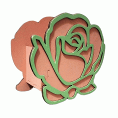Laser Cut Rose Shaped Box Valentine Day Gifts Valentine Flower Box Free CDR Vectors Art