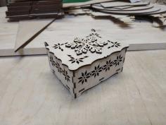 Laser Cut Snowflake Favor Box Free CDR Vectors Art