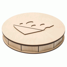 Wooden Cheese Box 4mm Free CDR Vectors Art