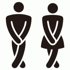 Laser Cut Engrave Wc Sign Men Women Toilet Sign Free CDR Vectors Art
