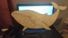 Laser Cut Engrave Whale Kids Wall Decor Free CDR Vectors Art