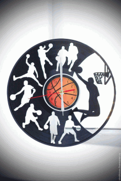 Basketball Clock Free DXF File