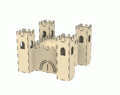 Castle Dollhouse Free DXF File