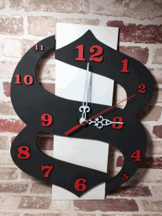 Laser Cut Decorative Modern And Contemporary Wall Clock Free CDR Vectors Art