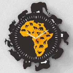 Layout Of Clock Africa Free CDR Vectors Art