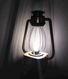 Classic Lantern Nightlight Table Lamp Free CDR Vectors Art