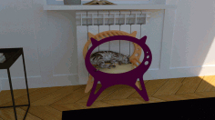 Laser Cut Kitten Cat House Cat Bed Pet House Free CDR Vectors Art