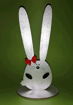 Laser Cut Bunny Hairband Stand Headband Holder Hairclip Showcase Free CDR Vectors Art
