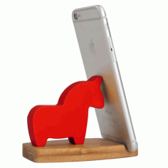 Laser Cut Horse Phone Stand Free CDR Vectors Art