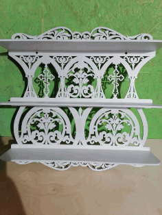 Laser Cut Home Altar Wooden Shelf For Icons Free CDR Vectors Art