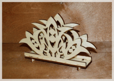 Laser Cut Decorative Tabletop Standing Napkin Holder 4mm Free CDR Vectors Art