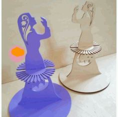 Laser Cut Muslim Girl Praying Napkin Holder Free CDR Vectors Art