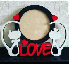 Laser Cut Love Theme Photo Frames Valentine Photo Frames Free CDR Vectors Art