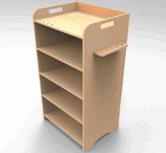 Laser Cut Office Cabinet Office Storage Rack 8mm Free CDR Vectors Art