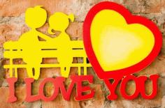 Laser Cut Love Photo Frames I Love You Photo Frame Free CDR Vectors Art