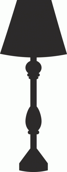 3d Lamp Silhouette Design Free DXF File