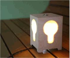 Decorative Hidden Light Table Lamp Free DXF File