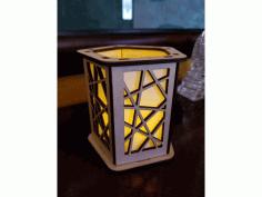 Lasercut Lantern Lamp Free DXF File