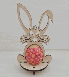 Laser Cut Easter Bunny Template 4mm Free CDR Vectors Art