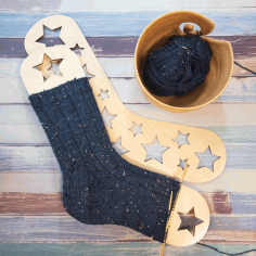 Wooden Sock Blockers With Stars Free CDR Vectors Art