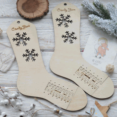 Laser Cut Wooden Socks Blockers Adjustable Sizes Sock Blockers Socks Forms Free CDR Vectors Art