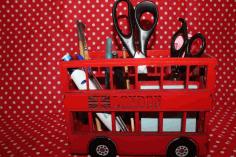 Londonski Autobus Organizer 3mm Free DXF File